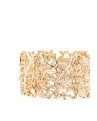 Forever 21 | Metallic Filigree Leaf Stretch Bracelet | Lyst