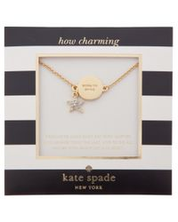 kate spade new york - Metallic Star Solitaire Bracelet - Lyst