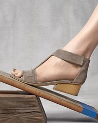 Coclico - Gray Ollie Leather City Sandal - Lyst