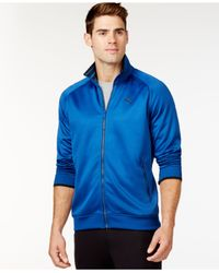 PUMA - Black Men's Full-zip Tricot Track Jacket for Men - Lyst