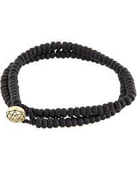 Luis Morais | Black Mantra Bracelet for Men | Lyst