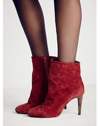 Free People | Red Fairfax Heel Boot | Lyst