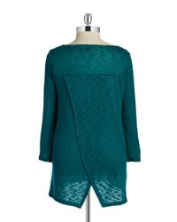 DKNY | Blue Plus Split-back Knit Tunic | Lyst