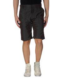 Ring - Gray Bermuda Shorts for Men - Lyst