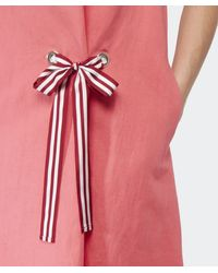 Paul by Paul Smith - Pink Tie Front Linen Dress - Lyst
