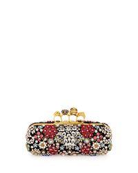 Alexander McQueen - Black Knuckle Box Brooch Crystal Clutch Bag - Lyst