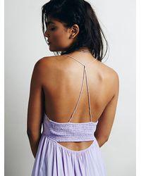 Intimately - Purple Smocked Back Slip - Lyst