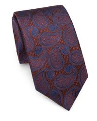 Saks Fifth Avenue | Orange Paisley Silk Tie for Men | Lyst