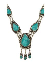 Natalie B. Jewelry | Green All Choked Up Necklace | Lyst