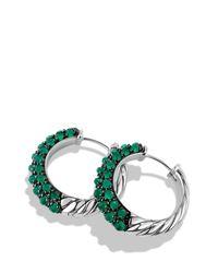 David Yurman - Osetra Hoop Earrings With Green Onyx - Lyst