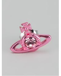 Vivienne Westwood | Pink Nano Solitaire Earring | Lyst