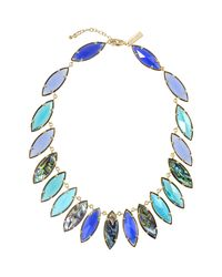 Kendra Scott | Blue Nalin Mixed-Stone Necklace | Lyst