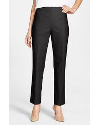 NIC+ZOE | Black 'the Perfect' Side Zip Ankle Pants | Lyst