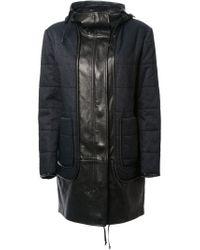 Alexander Wang - Blue Two-tone Padded Coat - Lyst