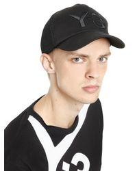 Y-3 - Black Logo Mesh & Nylon Trucker Hat for Men - Lyst