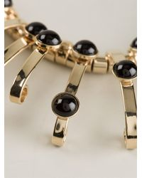 Etro - Metallic Structured Jewel Necklace - Lyst