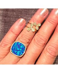 Anne Sisteron - Metallic 14kt Yellow Gold Diamond Daisy Ring - Lyst