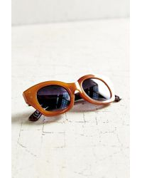 Urban Outfitters | Brown Industrial Chunk Cat-eye Sunglasses | Lyst