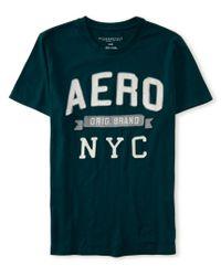 Aéropostale | Green Original Brand Banner Logo Graphic T | Lyst