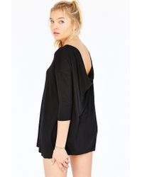 Silence + Noise - Black Bad Attitude Tunic Top - Lyst