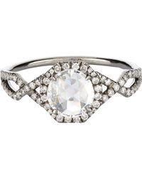 Mp Mineraux - Metallic Diamond Dome Ring - Lyst