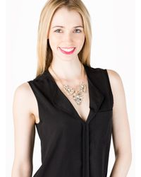 BaubleBar - Metallic Crystal Winged Necklace - Lyst