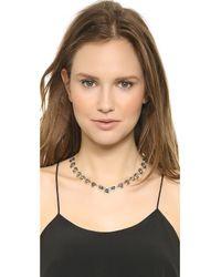 Alexis Bittar - Metallic Pear Necklace Sodalite - Lyst