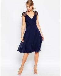 ASOS | Blue Kate Lace Midi Dress | Lyst