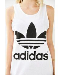 Adidas - Black Double Logo Tank Top - Lyst