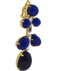 Kenneth Jay Lane - Blue Gold-plated Resin Chandelier Earrings - Gold - Lyst