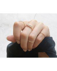 Vrai & Oro | White Diamond Line Ring | Lyst