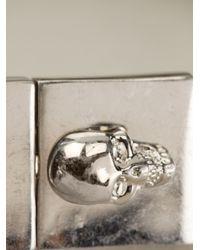 Alexander McQueen - Metallic Skull Chain Bracelet for Men - Lyst