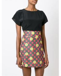RED Valentino - Black Short Sleeve Blouse - Lyst