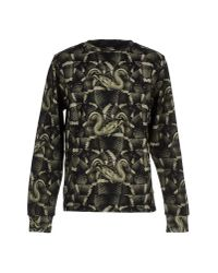 Marcelo Burlon | Green Allover Snake Cotton Sweatshirt for Men | Lyst