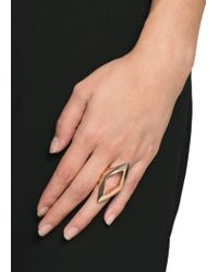 Mango - Metallic Rhombus Ring - Lyst
