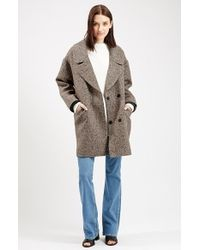 TOPSHOP | Natural 'amelia' Slouch Coat | Lyst