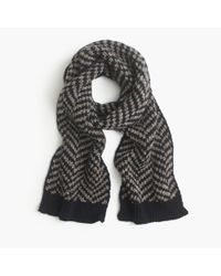 J.Crew | Black Wide Chevron Scarf for Men | Lyst