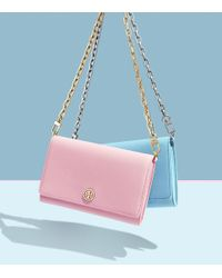 Tory Burch - Pink Robinson Chain Wallet - Lyst