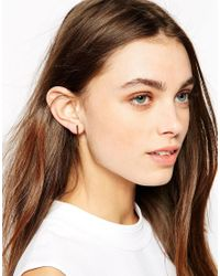 Stella & Bow | Metallic Sophia Bar Stud Earrings | Lyst