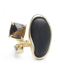 Alexis Bittar | Black Liquid Bezel Pyramid Tiger Eye Ring | Lyst