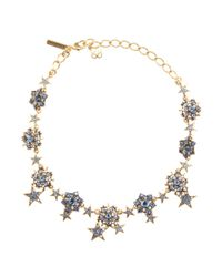 Oscar de la Renta - Metallic Stars Necklace - Lyst