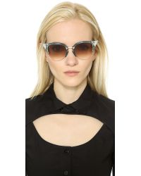 Fendi - Multicolor Iridia Crystal Corner Sunglasses - Lyst