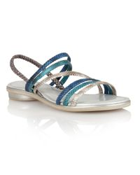 Lotus - Blue Tropica Open Toe Sandals - Lyst
