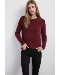 Velvet By Graham & Spencer - Purple Zuly Boucle High/low Sweater - Lyst