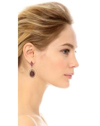 Oscar de la Renta | Purple Multi Crystal Small Clip On Earrings - Magenta Multi | Lyst