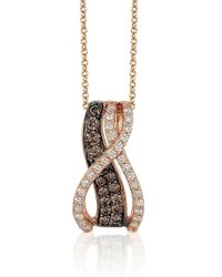 Le Vian | Pink Chocolatier Chocolate Diamond, Vanilla Diamond And 14k Strawberry Gold Swirl Pendant Necklace | Lyst