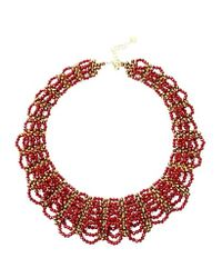 Nakamol - Multicolor Lizbeth Crystal Necklace-red - Lyst