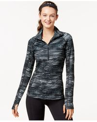 Under Armour | Black Coldgear® Printed Half-zip Top | Lyst