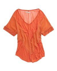 Madewell | Orange Cheyenne Chevron Top | Lyst