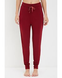 Forever 21 - Purple Drawstring Pj Pants - Lyst